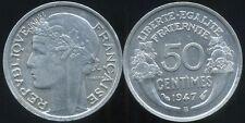 50 centimes MORLON  alu  1947 B    neuve  sortie du rouleau