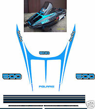 1989 POLARIS INDY 500 HOOD DECALS, SHROUD blue reproductions