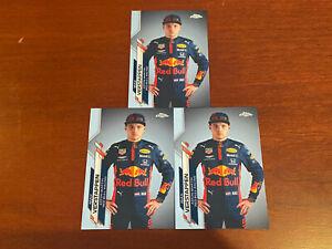 2020 Topps Chrome Formula 1 F1 Max Verstappen #6 1st Chrome 3 Card Lot Red Bull