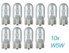 10 St W5W W2.1x9.5d T10 12V Glühlampe Glühbirne Soffitte Auto Lampen Glassockell