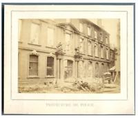 France, Paris, Préfecture de Police en ruine  vintage albumen print. La Commune