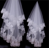 Wedding Veils Ivory White Champagne Red Drop Veil Bridal Accessories Fingertip