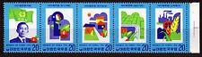 Korea-Sued 1032-36 **, Saemaul Undong Entwicklungsplan, 5er-Streifen