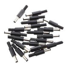 20 Stueck Schwarz 2.5mm x 5.5mm DC Power Maennlich Stecker Buchse Adapter Q O7N5