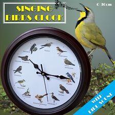 Wanduhr Singvögel mit 12 verschiedenen Vogelstimmen zur vollen Stunde Ø ca. 30cm