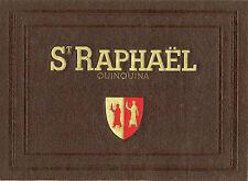 """""""St RAPHAËL QUINQUINA"""" Couverture de menu originale entoilée (années 30)"""