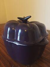 Purple Enamel LE CREUSET Cocotte Bell Pepper - Ceramic 13oz - 0632 EUC