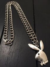"""20"""" Stainless Steel Designer Necklace with Playboy Pendant/USA,We Ship Same Day!"""