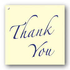 Pack of 10 Thank You Shimmer Ivory Gift Tags Ref 653