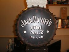 JACK DANIELS OLD NUMBER 7 METAL BOTTLE TOP WALL HANGER DECORATION