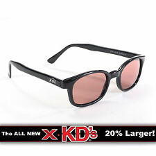 X-KD's Black Frame Rose Lens Sunglasses XKD Motorcycle Riding Glasses