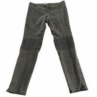 Stella McCartney Size 28 Gray Zipper Ankle Moto Style Skinny Pants Jeans