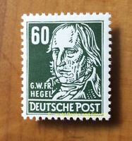 EBS East Germany DDR 1953 G W F Hegel 60Pf - Köpfe - Michel 338v MNH** cv $10