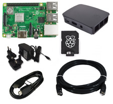 Raspberry Pi 3 Model B Plus (2018) - Official BLACK Case 16GB Starter Bundle