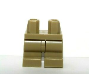Lego 1 x Medium Legs Leg For Minifigure Figure Dark Tan