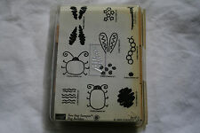 Lot of boxed wooden rubber stamps lady bugs caterpillars wings insects scrapbook
