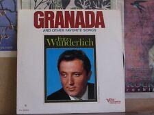 FRITZ WUNDERLICH, GRANADA - VERVE FOLKWAYS LP FV-9023