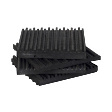 "4 Pack of Anti Vibration Pads 4"" x 4"" x 3/8"" All Rubber Vibration isolation pads"