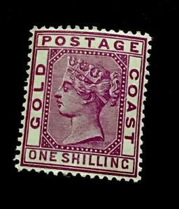 Gold Coast SG18a 1/- Victoria 1884 m/mint CV £17