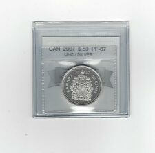 **2007** Coin Mart Graded Canadian, 50 Cent, **PF-67 UHC Silver**