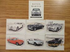 The Aston Martin Collection Limited Edition Lot of 6 Cards Excellent Condition