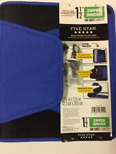New Five Star 1.5-Inch Zipper Binder with Expanding File, Blue