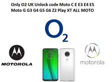 Only O2 UK Unlock code Moto G G4 G5 G6 Z2 Play XT ALL MOTO O2 Uk only