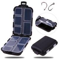 10 Grid Portable Fishing Tackle Box Lure Hook Rig Bait Storage Case Organizer