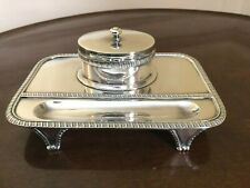 Sterling Silver Inkstand London 1898 William Gibson & John Lawrence Langman