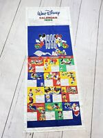 Vintage 1988 Walt Disney Mickey Minnie Mouse Fabric Calendar Craft panel