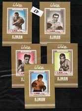 JK AJMAN - DELUXE - MNH - SPORT - BOXING - CHAMPIONS