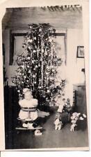 Baby By Tinsel Christmas Tree Vintage Toys Tin Train Santa Claus Vintage Photo