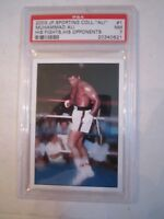 2003 MUHAMMAD ALI JP SPORTING COLL. #1 BOXING CARD PSA GRADED 7 NM