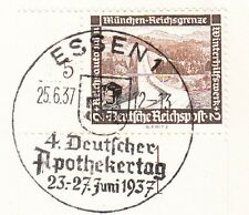 Germany 3rd Reich Special Cancel Collector Essen 4th Pharmacist Day 1937 5w