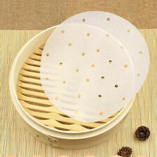 100PCS Round Disposable Perforated Paper Bamboo Steamer Paper Liners Air Fryer