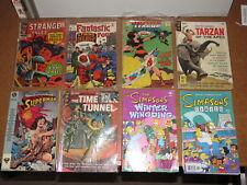 Justice League, Tarzan, Fantastic 4, Strange Tales, comics lot of 8, some 1960's