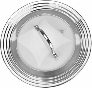 """Modern Innovations Universal Glass Lid Fits All 7"""" to 12"""" Pots and Pans"""