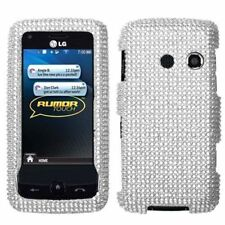 Silver Crystal Bling Case Cover LG Banter Touch UN510 Rumor Touch LN510