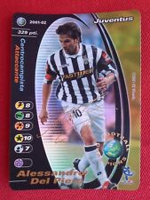 Alessandro Del Piero  Signed Foil Promo  Football Champions 2001/02 Wizards