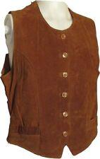 Markenlose Damenwesten aus Leder mit Knöpfen
