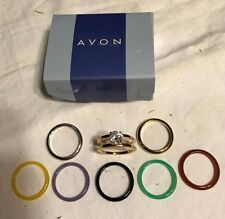 Avon Collectible 2001 Goldtone Multicolor Interchangeable Ring - A33