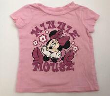 Disney Sz 6-9mo Baby Girl MINNIE MOUSE Pink Shirt Flowers Sparkle