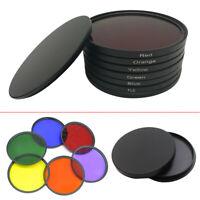 40.5 43 46 49 52 55 58 62 67 72 77 82mm 6-Colors Set Full Color Filter Fr Camera