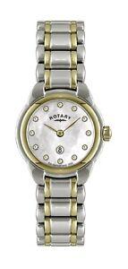 Rotary Women's Two tone Stainless Steel bracelet Quartz Watch LB02602/41L