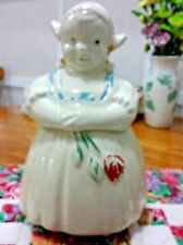 American Bisque Pottery Dutch Girl Cookie Jar Figure Woman Tulip