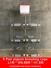 Set of 6 Pair Pigeon breeding Cage/Large Metal Bird Cage with Tray