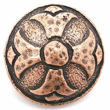 """Hammered Round Cross Concho Antique Copper 1-1/4"""" 7454-10 by Stecksstore"""