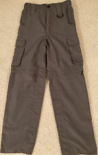 Boy Scouts of America Youth Small convertible pants/shorts Olive Green Un-hemmed