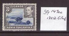 Kenya George VI 3/- SG147ac perf 13 x 12.50 lightly hinged.
