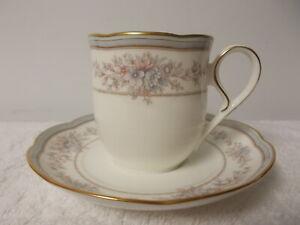 Noritake Bone China Bridgehampton Gold Trim Coffee Tea Cup & Saucer 9753